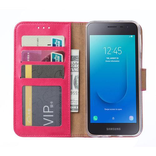 Bookcase Samsung Galaxy J2 Core hoesje - Roze