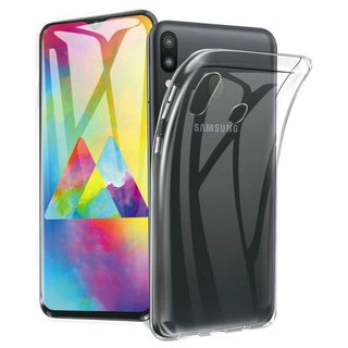 Samsung Galaxy M20 siliconen achterkant hoesje - Transparant