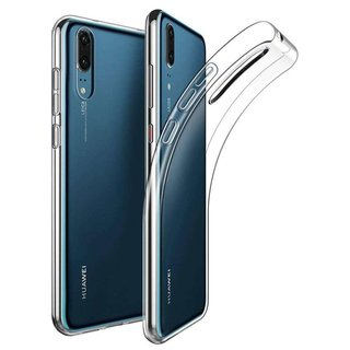 Huawei P30 siliconen achterkant hoesje - Transparant