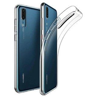 Huawei P30 siliconen achterkant hoesje - Transparant