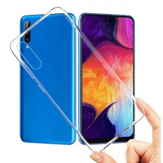 Samsung Galaxy A70 siliconen achterkant hoesje - Transparant