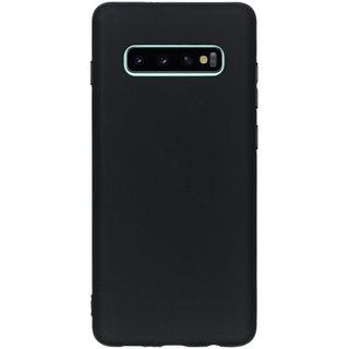 Samsung Galaxy S10 Plus siliconen (gel) achterkant hoesje - Zwart