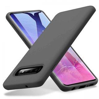 Samsung Galaxy S10 siliconen (gel) achterkant hoesje - Zwart