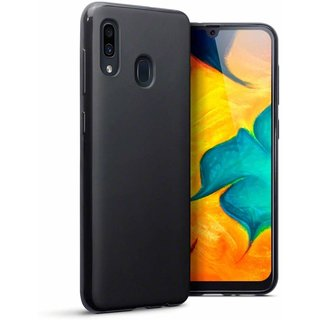 Samsung Galaxy A40 siliconen (gel) achterkant hoesje - Zwart