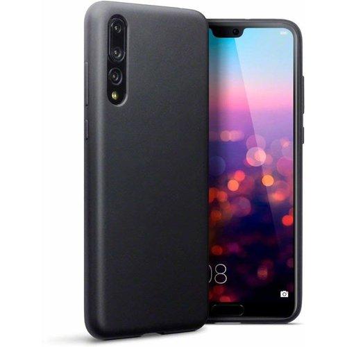 Huawei P20 Pro siliconen (gel) achterkant hoesje - Zwart