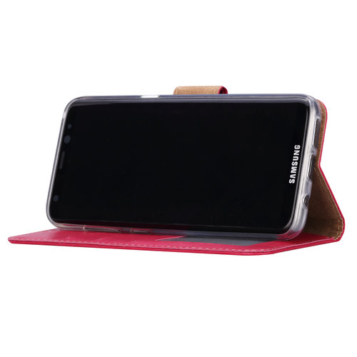 Bookcase Samsung Galaxy S8 Plus hoesje - Roze