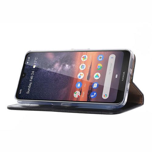 Bookcase Nokia 3.2 hoesje - Zwart