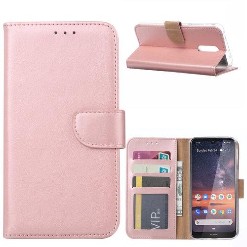 Bookcase Nokia 3.2 hoesje - Rosé Goud