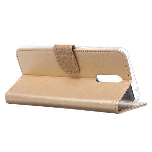 Bookcase Nokia 3.2 hoesje - Goud