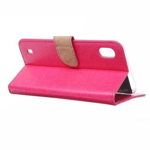Bookcase Samsung Galaxy A10 hoesje - Roze
