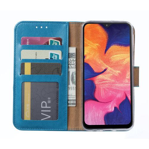 Bookcase Samsung Galaxy A10 hoesje - Blauw