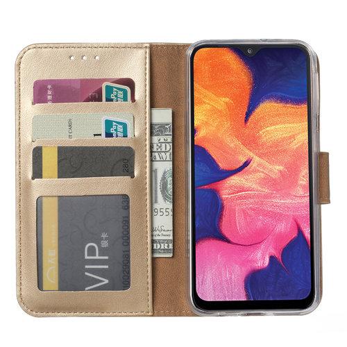 Bookcase Samsung Galaxy A10 hoesje - Goud