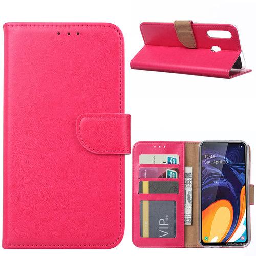Bookcase Samsung Galaxy A60 hoesje - Roze