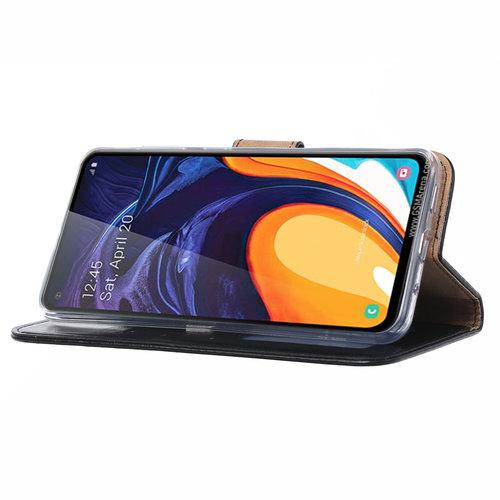 Bookcase Samsung Galaxy A60 hoesje - Zwart
