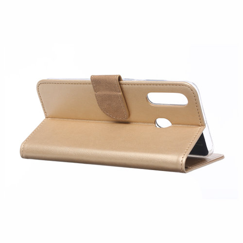 Bookcase Samsung Galaxy A60 hoesje - Goud