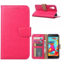 Bookcase Samsung Galaxy A2 Core hoesje - Roze
