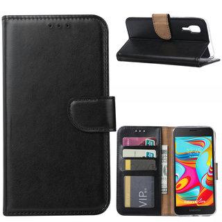 Bookcase Samsung Galaxy A2 Core hoesje - Zwart