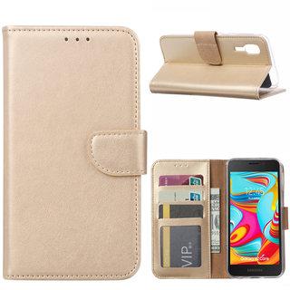 Bookcase Samsung Galaxy A2 Core hoesje - Goud