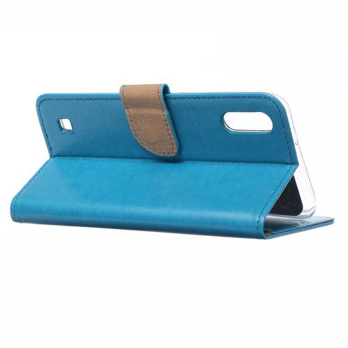 Bookcase Samsung Galaxy M10 hoesje - Blauw