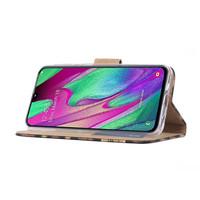 Panter print lederen Bookcase hoesje voor de Samsung Galaxy A40