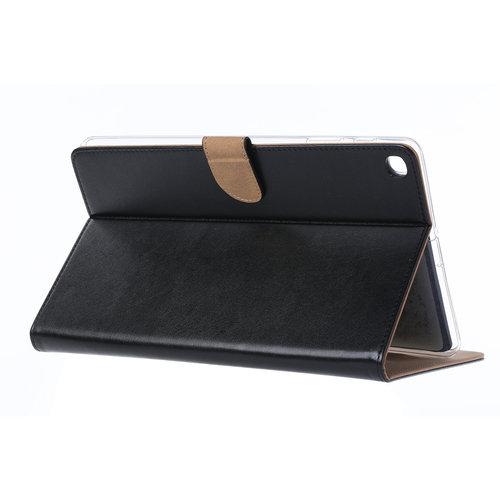 Luxe Lederen Standaard hoes voor de Samsung Galaxy Tab A - 2019 (10.1 inch) - Zwart