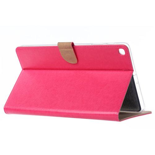 Luxe Lederen Standaard hoes voor de Samsung Galaxy Tab A - 2019 (10.1 inch) - Roze