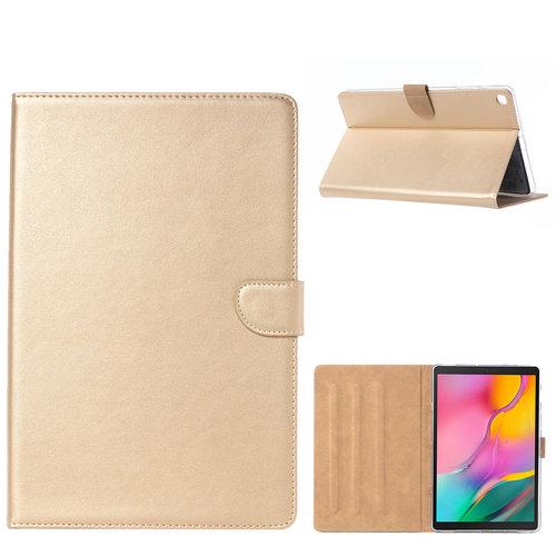 Luxe Lederen Standaard hoes voor de Samsung Galaxy Tab A - 2019 (10.1 inch) - Goud