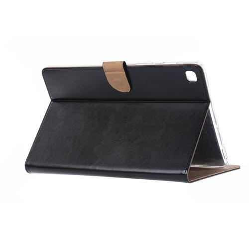 Luxe Lederen Standaard hoes voor de Samsung Galaxy Tab S5e (10.5 inch) - Zwart