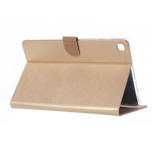 Luxe Lederen Standaard hoes voor de Samsung Galaxy Tab A S5e (10.5 inch) - Goud