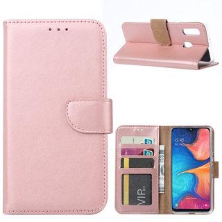 Bookcase Samsung Galaxy A20e hoesje - Rosé Goud