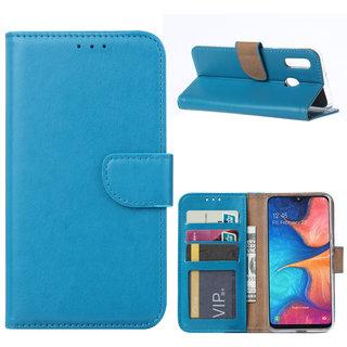 Bookcase Samsung Galaxy A20e hoesje - Blauw