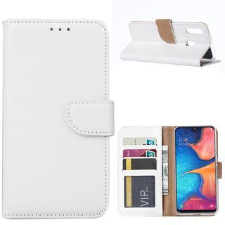 Bookcase Samsung Galaxy A20e hoesje - Wit
