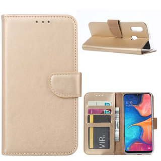 Bookcase Samsung Galaxy A20e hoesje - Goud