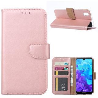 Bookcase Huawei Y5 2019 hoesje - Rosé Goud