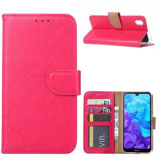 Bookcase Huawei Y5 2019 hoesje - Roze