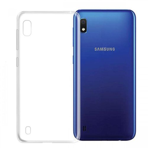 Samsung Galaxy A10 siliconen (gel) achterkant hoesje - Transparant