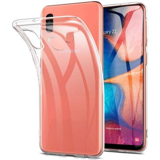 Samsung Galaxy A20e siliconen (gel) achterkant hoesje - Transparant