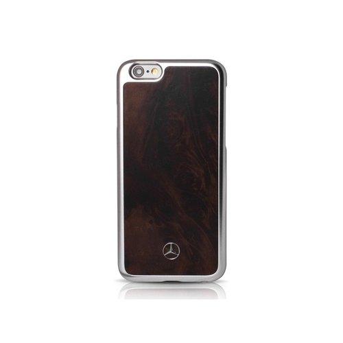 Mercedes-Benz Originele Real Wood Back Cover Hoesje voor de Apple iPhone 6 Plus / 6S Plus -  Bruin