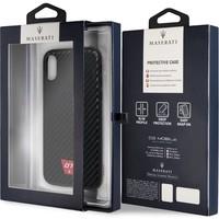 Maserati Originele GranSport GT Carbon Hardcase Back Cover Hoesje voor de Apple iPhone X / XS - Zwart