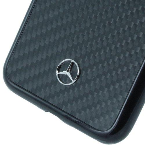 Mercedes-Benz Originele Carbon Back Cover Hoesje voor de Apple iPhone X / XS - Zwart