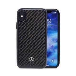 Originele Carbon Back Cover Hoesje voor de Apple iPhone X / XS - Zwart