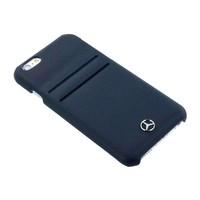Mercedes-Benz Originele Echt Lederen Back Cover Hoesje voor de Apple iPhone 6 / 6S - Zwart