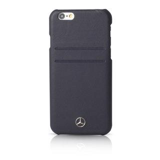 Originele Echt Lederen Back Cover Hoesje voor de Apple iPhone 6 / 6S - Zwart