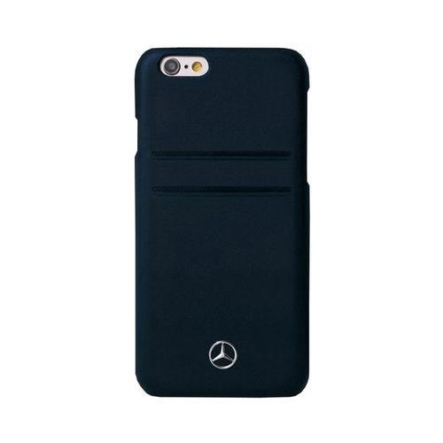 Mercedes-Benz Originele Echt Lederen Back Cover Hoesje voor de Apple iPhone 6 Plus / 6S Plus - Zwart