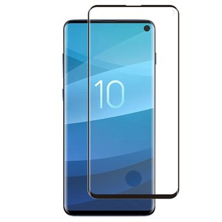 Samsung Galaxy S10 Screenprotector Full Cover - Glas