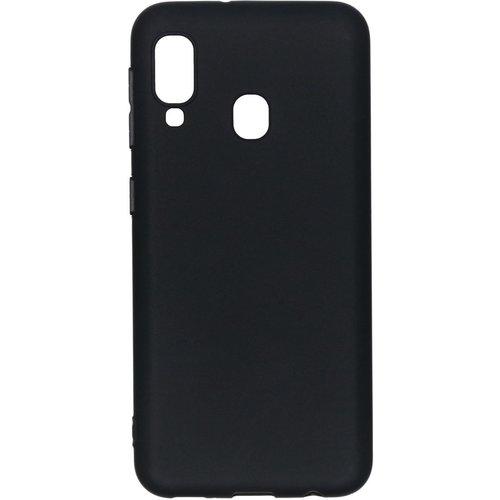 Samsung Galaxy A20 siliconen (gel) achterkant hoesje - Zwart