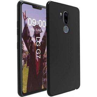 LG G7 ThinQ siliconen (gel) achterkant hoesje - Zwart