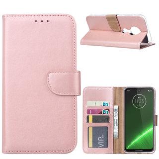 Bookcase Motorola Moto G7 Power hoesje - Rosé Goud