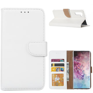 Bookcase Samsung Galaxy Note 10 hoesje - Wit