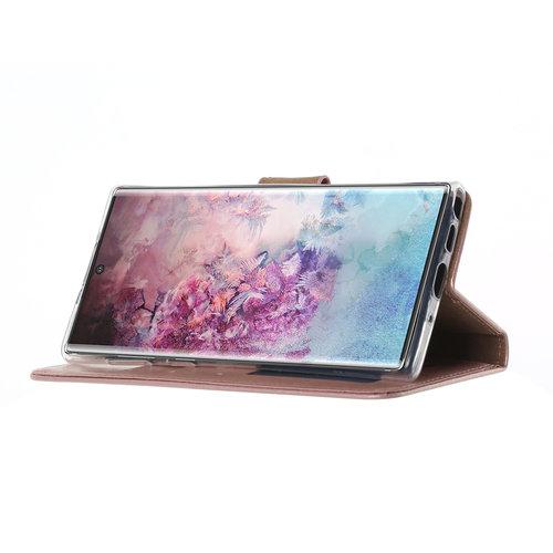 Bookcase Samsung Galaxy Note 10 hoesje - Rosé Goud